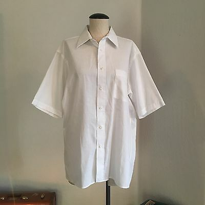 Christian Dior men's white business casual work buttoned shirt size 16 1/2 SS