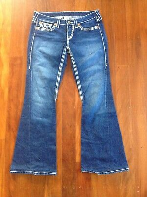 Ladies True Religion Blue Denim Jeans Size 31
