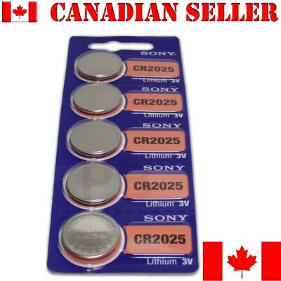 5 NEW SONY CR2025 DL2025 Batteries coin watch battery. Expiration: 2027
