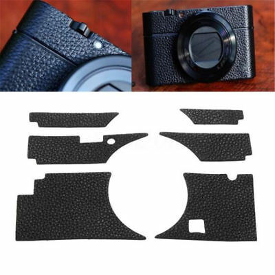Kraft Leather Sticker Case Body Skin Black Cover Decal For Sony RX100III-M3