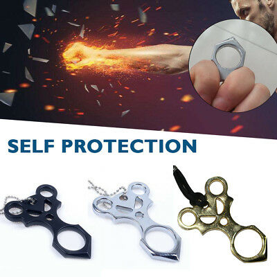 Alloy Finger Tiger Self Defense Ring Handcuffs Iron Fist Durable Punch