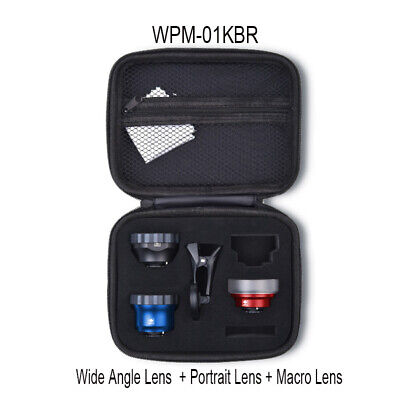 SIRUI WPM-01KBR smart phone 3 lens kit for iphone X