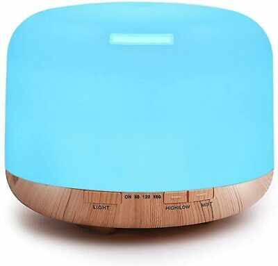 500ml Premium, Essential Oil Diffuser, 5 In 1 Ultrasonic Aromatherapy