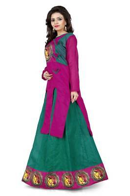 Womans Girls Silk Semi stitched Free Size Lehengha Choli Ghaghra Kurti  India