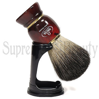 Pennello Da Barba In Tasso Nero Con Supporto Barbiere Barber Shop Omega 63186