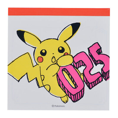 Pokemon Center Original Pikachu drawing orange Memo pad Notepad From Japan