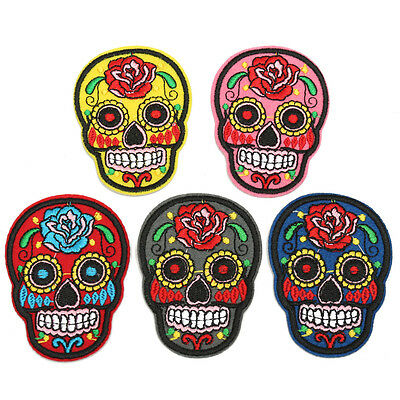 3PCS Skull Gothic Punk DIY Sew Embroidery Iron On Patch Badge Fabric Applique