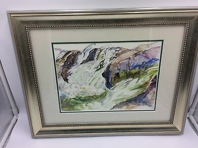 NOW REDUCED: Modern Art Painting Signed By The Artist Kath Macaulay Framed