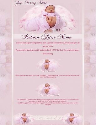 Auktionsvorlage Twins Angels Baby Reborn Mobile Responsive Template 711