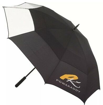 "Powakaddy Clearview Golf Umbrella Double Canopy 64"" Stylish 24Hr Delivery!!!!"