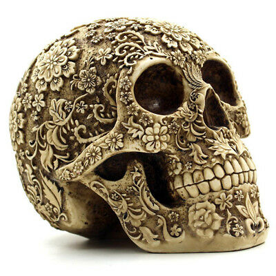 1:1 Adult Size Resin Carving Human Skull Replica Teaching Model Medical Decore