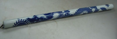 Collectible China Decorate Blue And White porcelain Painting Dragon Usable Flute