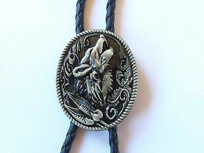 Bolotie Boloties Wolf Western Krawatte Country Line Dance Bolo Indianer Cowboy