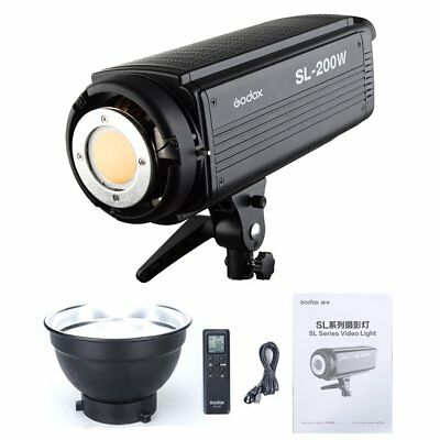 Godox SL-200W Studio Photo LED Video Light Continuous Lamp 5600K with Remote