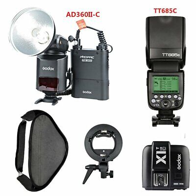 Godox AD360II-C TTL HSS Flash + TT685C Flash + X1T-C Transmitter + Softbox