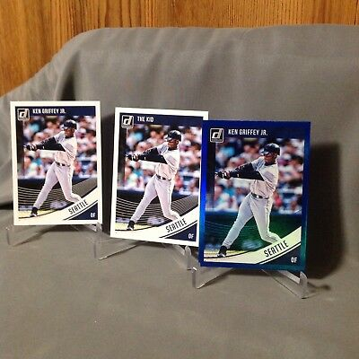 Ken Griffey Jr 2018 Donruss Blue Foil Variation Lot cards