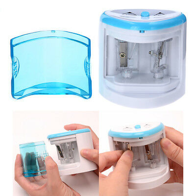 Electric Pencil Sharpener Dual Hole Portable Automatic Sharpener for Office