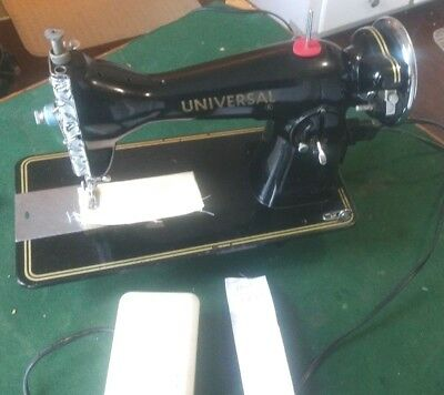 Vintage  UNIVERSAL Straight Stitch Sewing Machine with new Motor