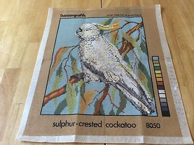 TAPESTRY CANVAS - SULPHUR CRESTED COCKATOO - BAXTERGRAFIK - canvas only