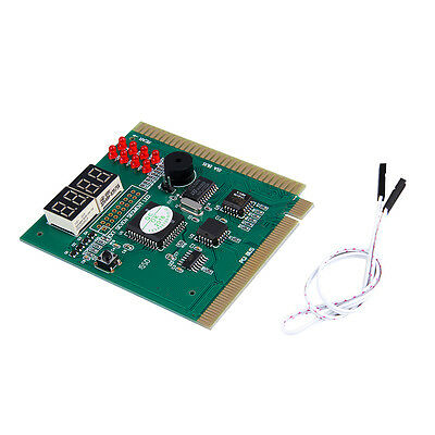 4-Digits Analysis Diagnostic Motherboard Tester Desktop PCI Express Card QE