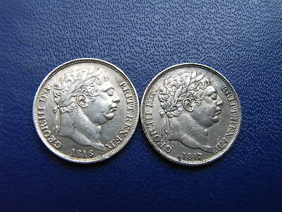 George III Silver Sixpences 1816 & 1817 (2 coins)
