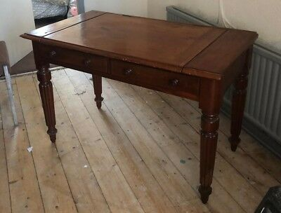 Antique furniture table desk, needs repair
