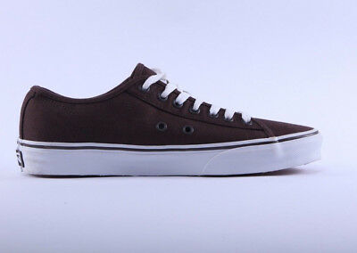 Mens Womens Vans Ferris Canvas Brown White Lace Up Trainers