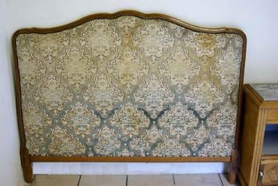 Vintage French 1950s Upholstered Double Bed Headboard (Only)
