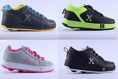 Kids Sidewalk Sports Wheeled Shoes Lace Up Low Top Boys Girls Trainers