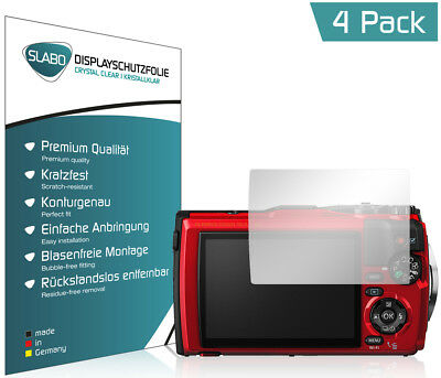 "Slabo Displayschutzfolie für Olympus Tough TG-5 (4er Set) KLAR ""Crystal Clear"""