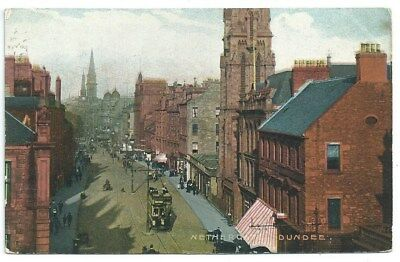 Vintage Postcard. Nethergate,Dundee.With Tram. Used1905. Ref:84175