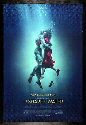 THE SHAPE OF WATER ✯ CineMasterpieces ORIGINAL DS 1SH CREATURE MOVIE POSTER 2017