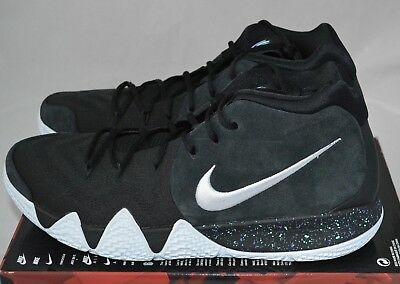 NIKE KYRIE 4 Men s Basketball Shoe  Size 14  Black white 943806-002 ... 5b23d7ffb