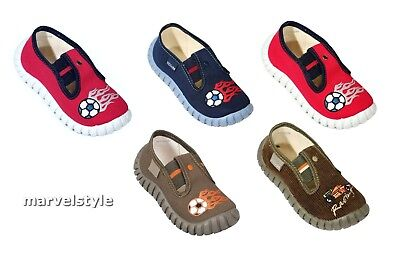 BOYS CANVAS SHOES / TRAINERS / NURSERY SLIPPERS UK size 7-12 /EU 24-30 COOL