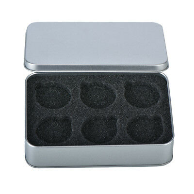 WR Coin Tin Silver Case Display Box Storage Holder for 6 40mm Coins Collect Item