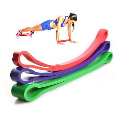Yoga Resistance Exercise Heavy Loop Bands 3 Level Home Gym Fitness Natural Latex