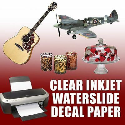"100 sheets 11"" x 17"" CLEAR INKJET t waterslide decal paper"