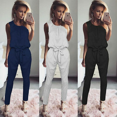 UK Womens Bandage Evening Party Playsuit Ladies Romper Long Jumpsuit Size 6 - 16