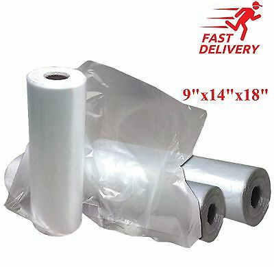Clear Bags on a Roll Food Bags Polythene Bags Fruit Vegetable Food Meat Butchers