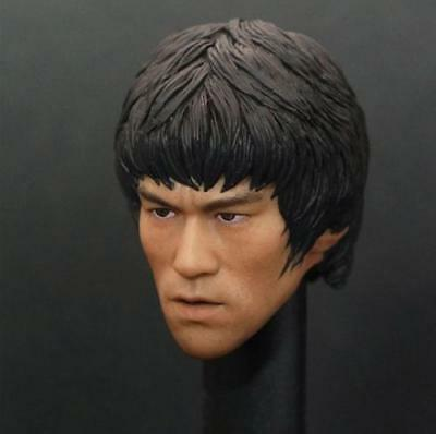 Custom 1/6 Scale Bruce Lee Head Sculpt For Hot Toys Figure Body New IN STOCK