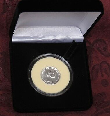 Thailand 10 Baht 1971 BE2514 Silver Coin 25th Year Reign King Rama IX with Box