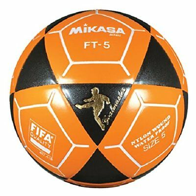 4f8ca7fd9 Mikasa FT5 Goal Master Soccer Ball Foot Volley Ball Black/Orange Size 5