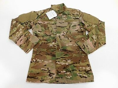 US Army Combat Coat ACU Camo FR Military Uniform OCP Multicam S Small X-Long NWT