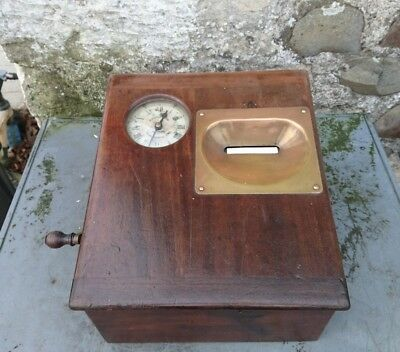 A Vintage Industrial, Clocking In Clock, by Gledhill of Huddersfield.