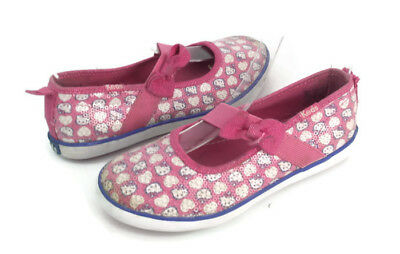3d5931f16 Keds Girls Multi-Color Sequin Hello Kitty Slip On Mary Jane Shoes US Size  11.5