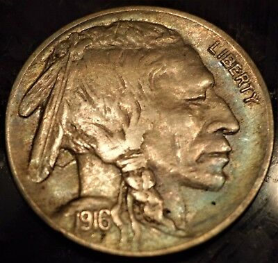 1916 Buffalo Nickel ALMOST FULL HORN VF