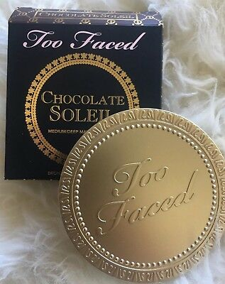 NEW, FULL SIZE Too Faced Chocolate Soleil Bronzer, BRAND NEW IN BOX, Authentic