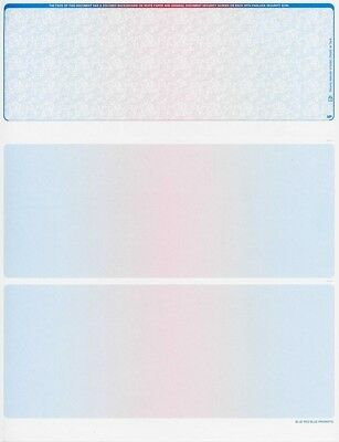 Blank Check Paper Stock-Check On Top-Prismatic BlueRedBlue-Count/100