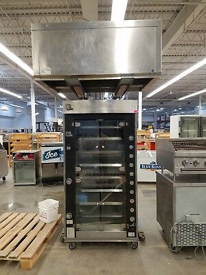 Used Rotisol G50-8 8 Spit Chicken Rotisserie With hood!