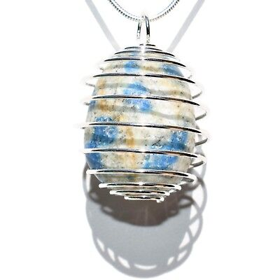 """CHARGED K2 Crystal Perfect Pendant™ + 20"""" Silver Chain REIKI WOW!"""